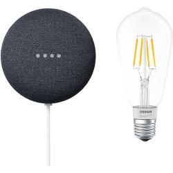 Google Nest Mini & Osram Smart+ Set 6 (Anthrazit)Bauhaus.info #googlehomemini
