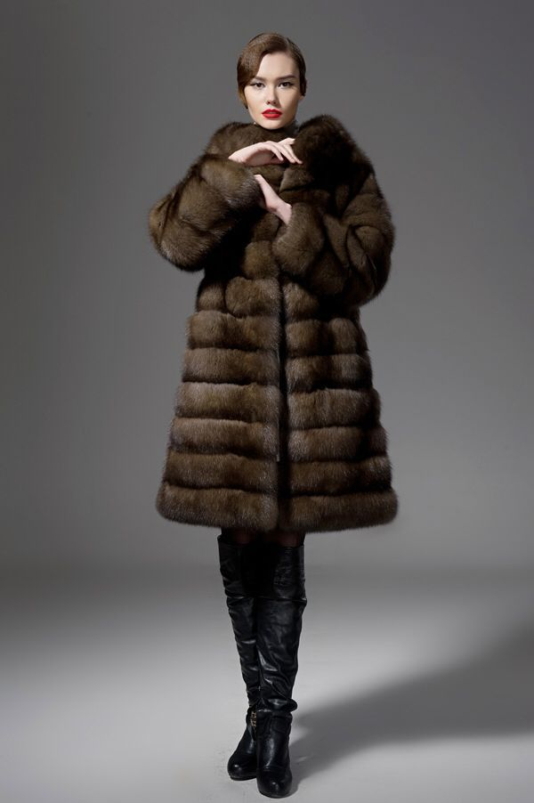 Russian Barguziin Sable Fur Coat