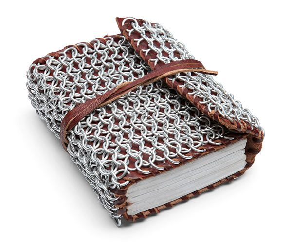 Chain Mail & Leather Blank Journal