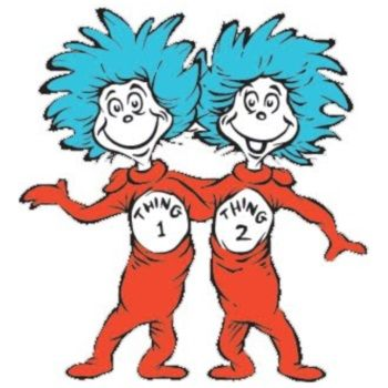 thing one and thing two lorax and dr seuss birthday rh pinterest com  thing one and thing two clip art free