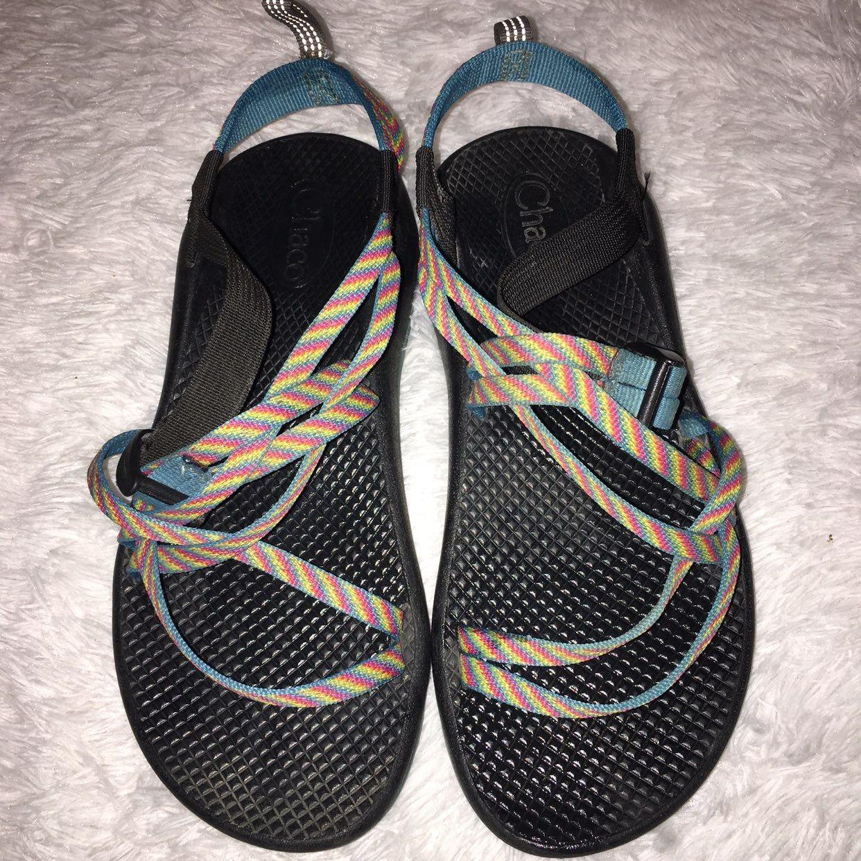 Chaco Fiesta Multi Color Sandals Sz 6