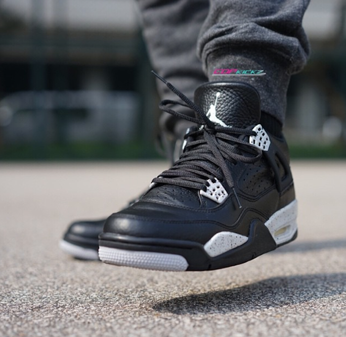 16d4b9b1585 Great OTF shot of the Nike Air Jordan 4 OREO. http   thesolesupplier