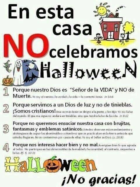 Halloween ¡NO GRACIAS! Halloween ¡NO THANKS! | Reflexiona | Pinterest