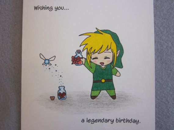 Zelda Birthday Card Proyectos Que Intentar Pinterest Birthdays