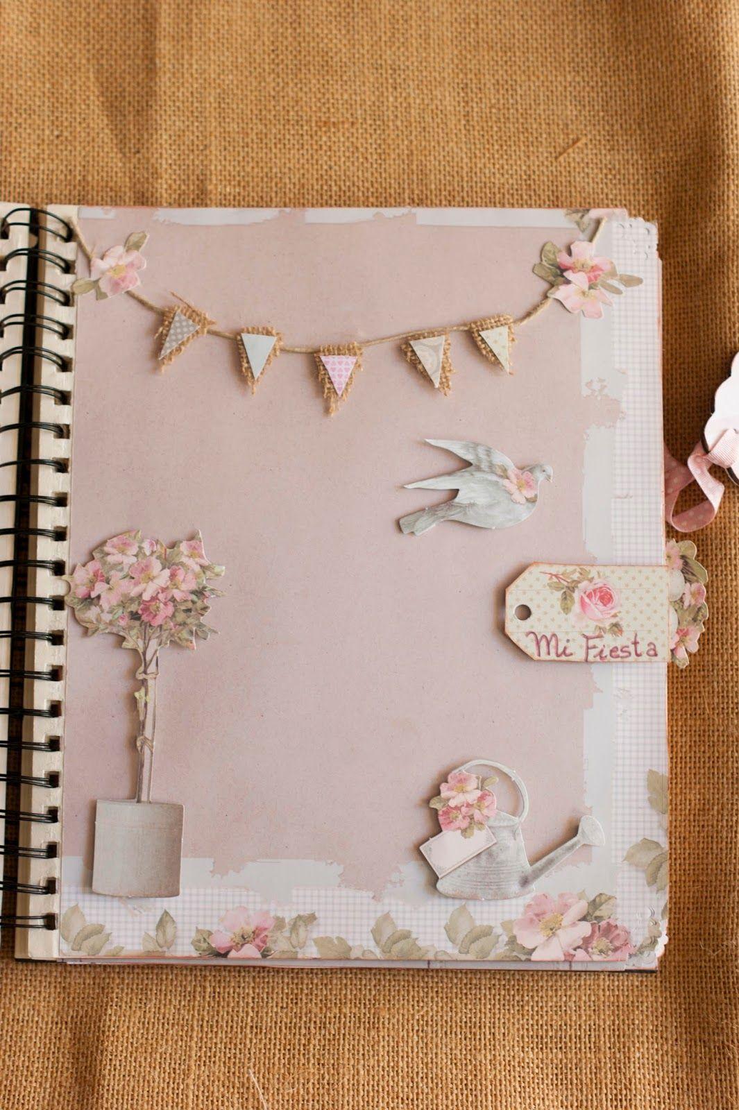 Blog sobre manualidades libros de firmas boda comuni n bautizo album de fotos letras - Manualidades album de fotos casero ...