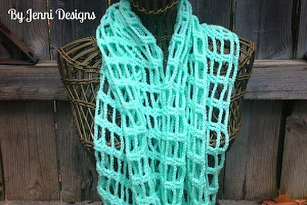 Free Crochet Pattern: Chains and Trebles Infinity Scarf (By Jenni ...