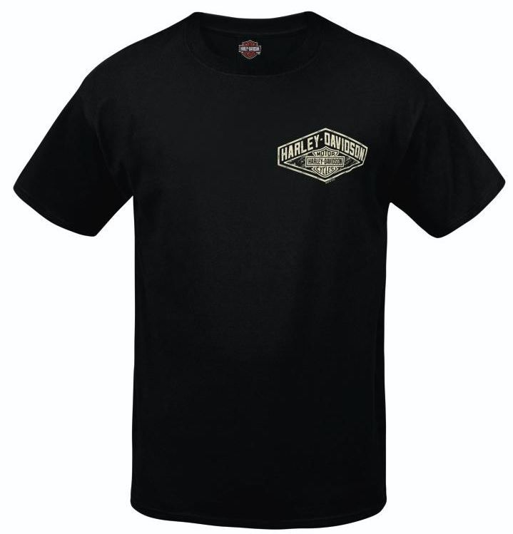 """""""Chalk Diamond"""" Hanes Beefy T - Black - Available in sizes S - 5X at your local Harley-Davidson® dealer."""