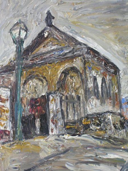 小西安夫 「モンマルトルの寺院」 (1976年) 油彩6号