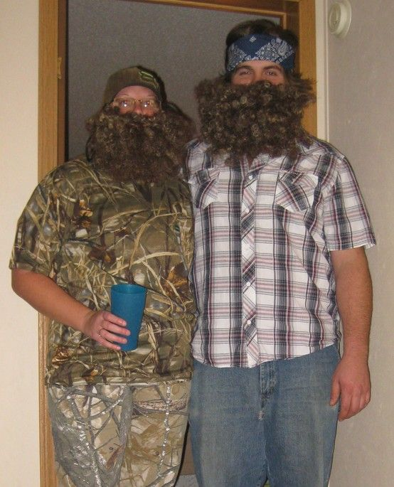 Homemade duck dynasty Uncle Si and Willie Robertson halloween costumes & Homemade duck dynasty Uncle Si and Willie Robertson halloween ...