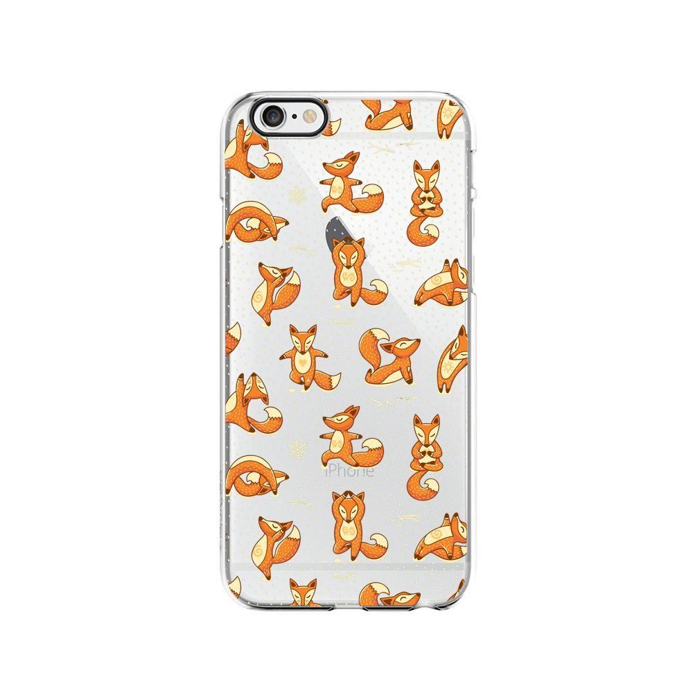 Cute Yoga Fox Pattern Flexible Plastic Phone Case/Cover