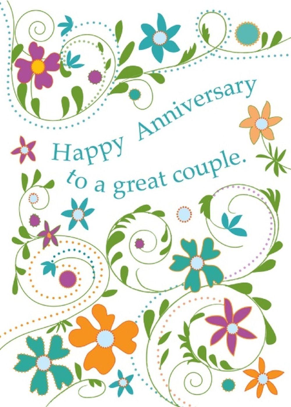 Anniv Card Happy anniversary friends, Happy anniversary