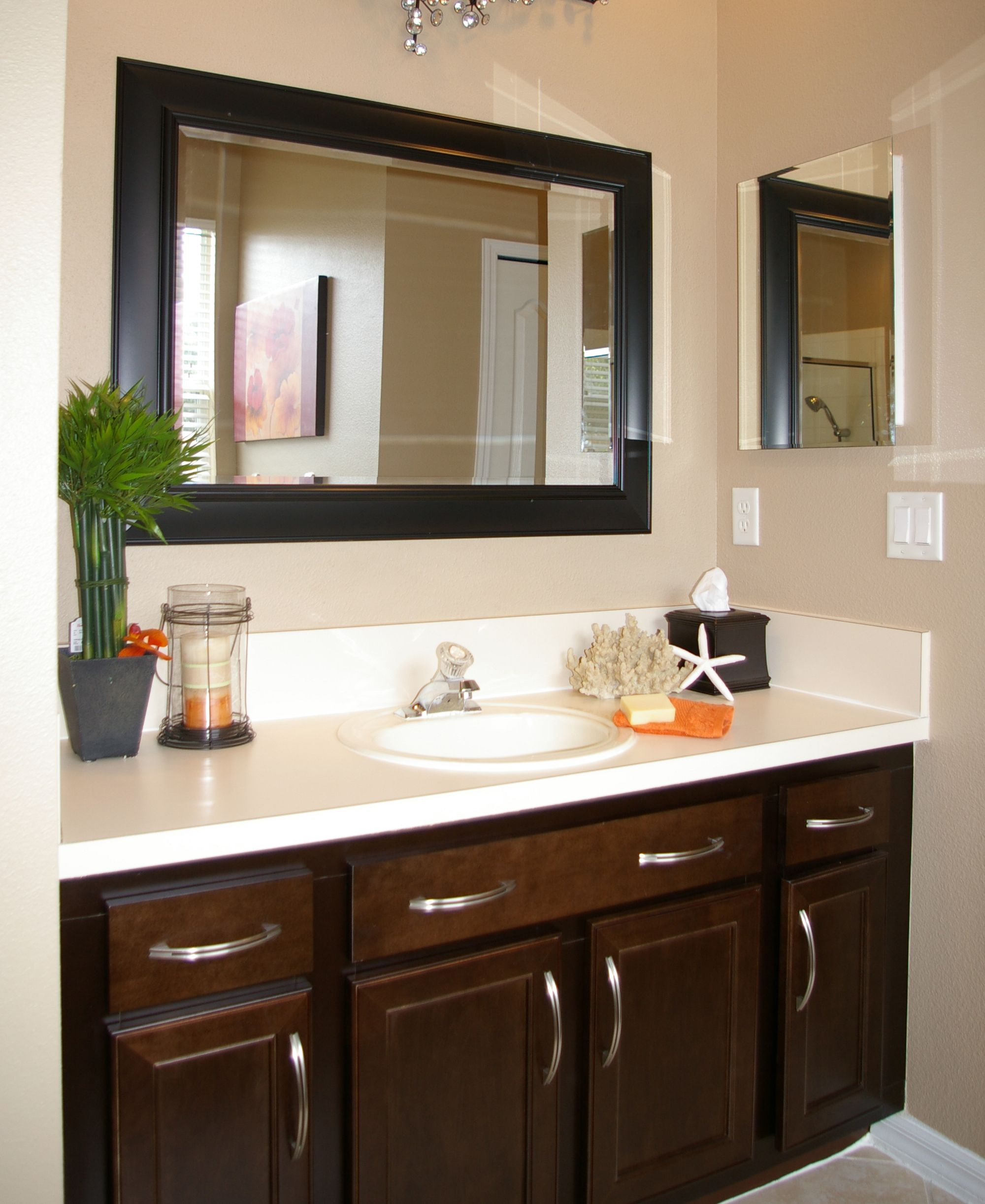 Small Master Bathroom Ideas | Before U0026 After | Design Distinctions.  Refacing, Framed Mirror