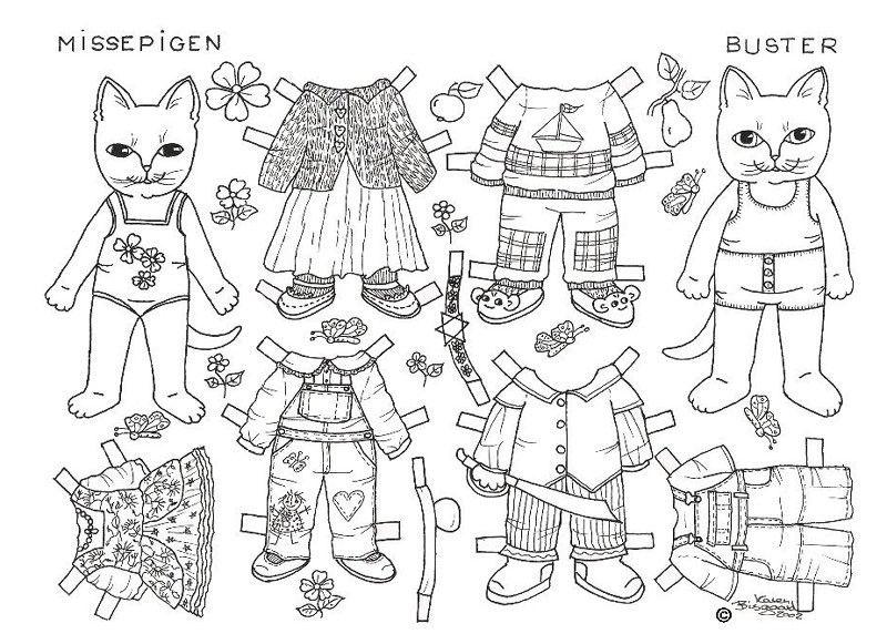 Раскраски бумажные куклы для вырезания распечатать | Глаза ...
