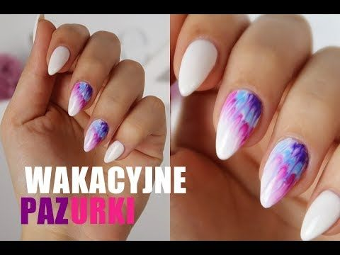 Paznokcie Na Lato Zdobienie Neonail Aquarelle Youtube Nails