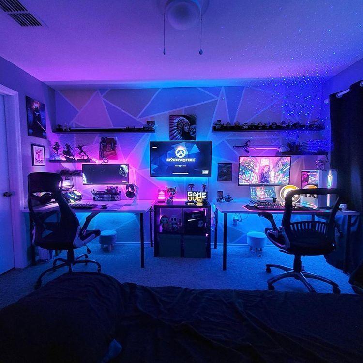 In 2020 Gaming Room Setup Computer Gaming Room Video Game Room Design #pc #living #room #setup