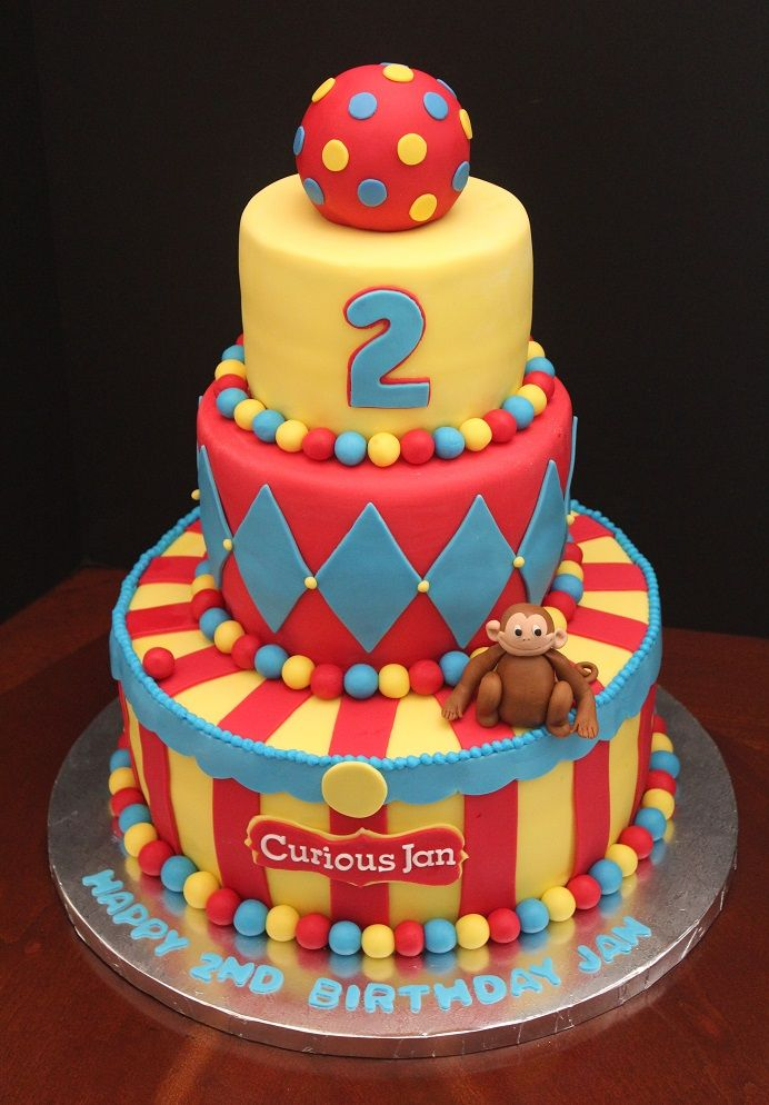 Terrific Birthday Cake For 2 Year Old Jan Circus Theme Cakes Kids Funny Birthday Cards Online Elaedamsfinfo