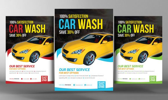 Car wash Flyer Template | Shops, Cars and Creative