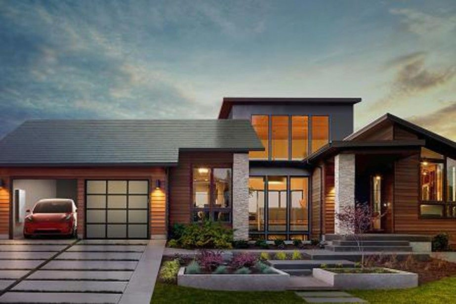 Modern Home Design Photo | Solar roof and Tesla s