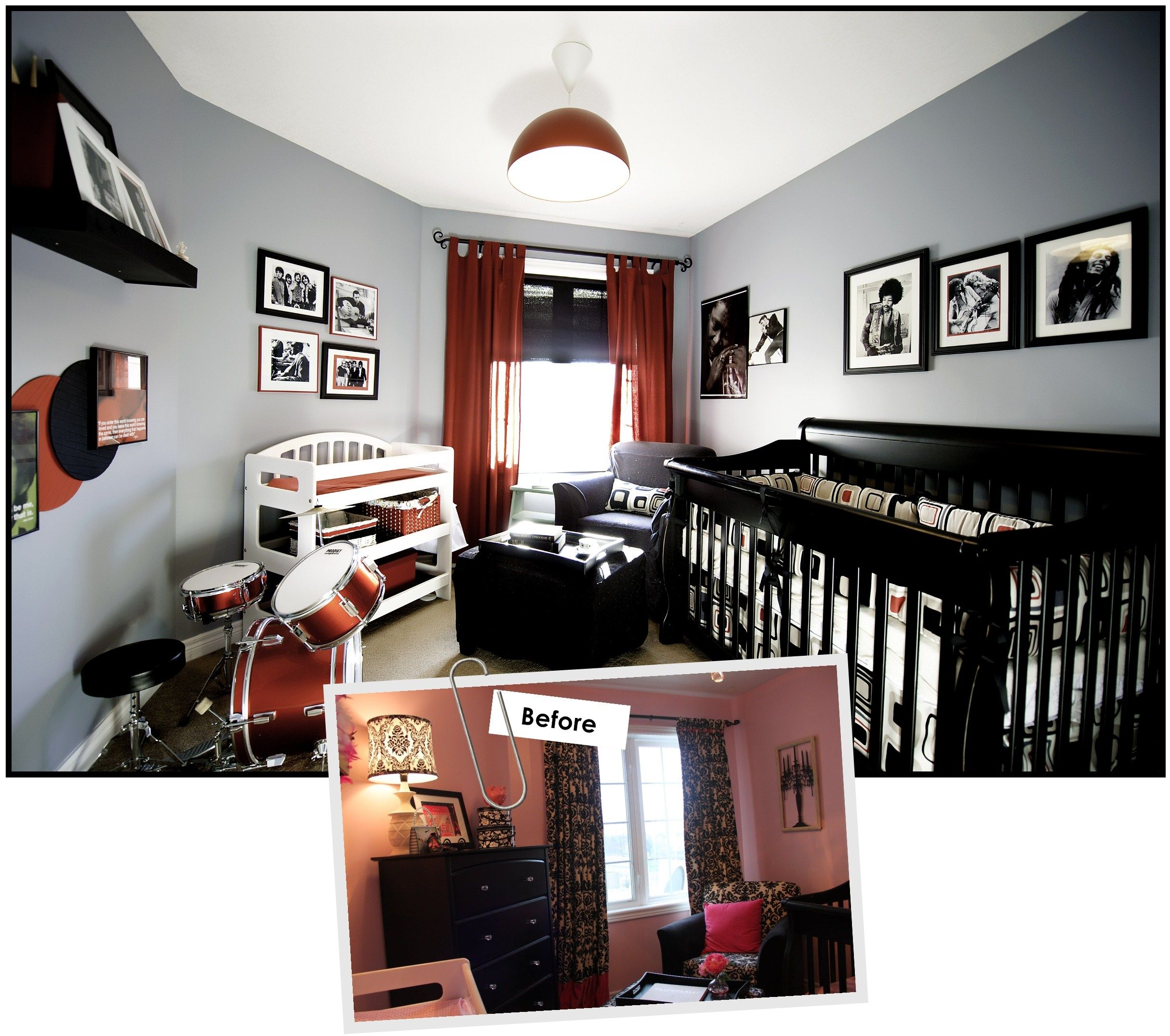rock star baby room... a little to busy but i like the idea! | It\'s ...