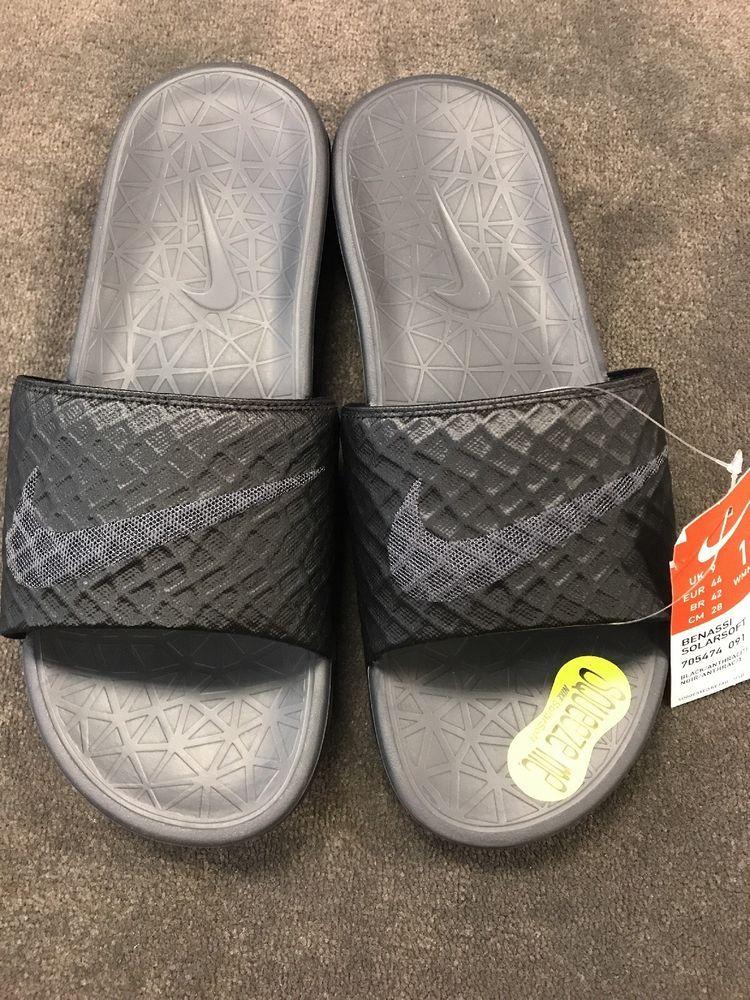 1f153bf670c1 Nike Benassi Solarsoft Black Slides Womens Women s NWT Size 11