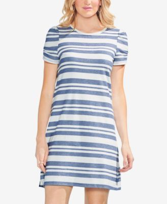 aa073ab24d52 Vince Camuto Striped T-Shirt Dress - Blue XXS | Products | Striped t ...