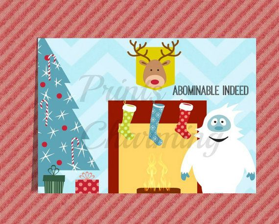 Abominable Snowman Rudolph Funny Christmas Card by PrinsCharming