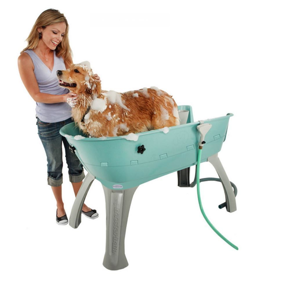 Pet Grooming Table Dog Washing Station Shower Wash Bath Tub Booster Cat Puppy Dog Washing Station Dog Tub Dog Wash