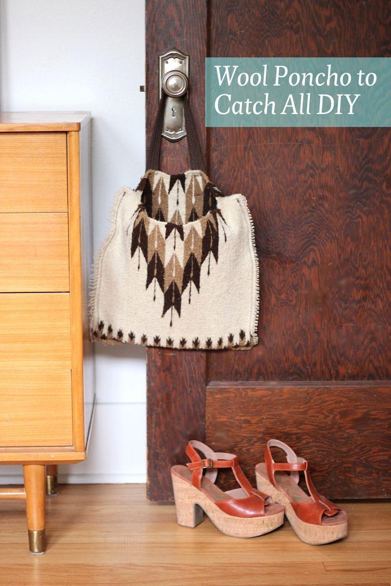 Wool Poncho Tote - A Beautiful Mess