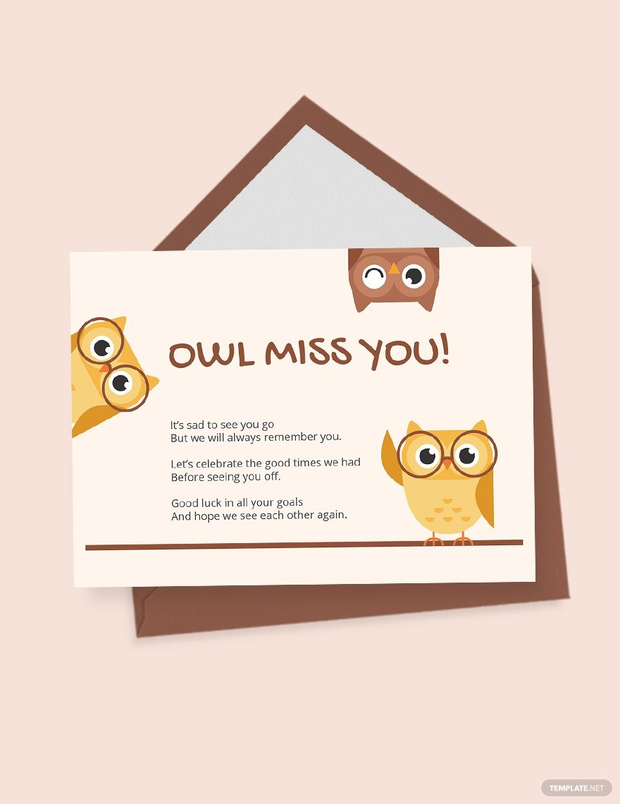 Cute Farewell Card Template Word Doc Psd Apple Mac Pages Illustrator Publisher Farewell Cards Cards Card Template