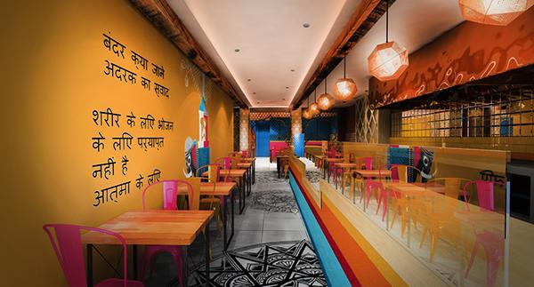 Indian restaurant concept design london haringey on