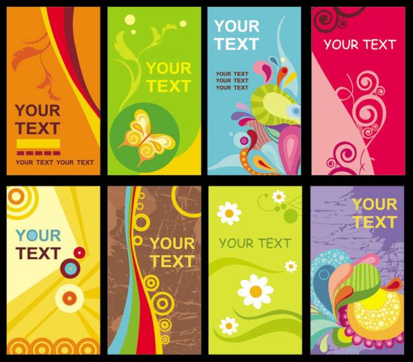 Colorful Business Cards Vector Business Card Colorful Business Card Free Business Card Templates