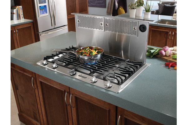 Pop Up Ventilation For Gas Stoves In Kitchen Islands Tucks Under