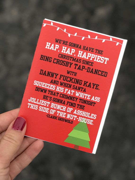 national lampoons christmas vacation card chevy chase hap hap happiest christmas clark griswold funny christmas christmas vacation card pinterest - Hap Hap Happiest Christmas