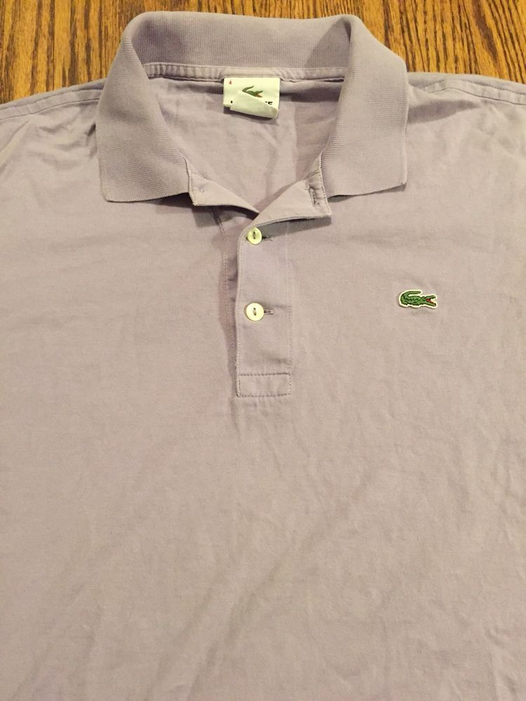 663c9ce847 LACOSTE MENS POLO SHIRT PURPLE 4 ALLIGATOR CROC LOGO SHORT SLEEVE #fashion # clothing #shoes #accessories #mensclothing #shirts (ebay link)