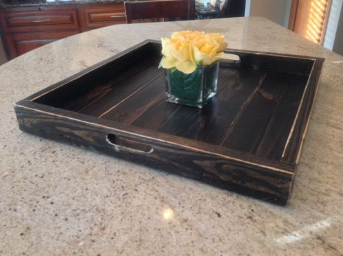 Details About Handmade Extra Large Ottoman Tray Wood Tray Square