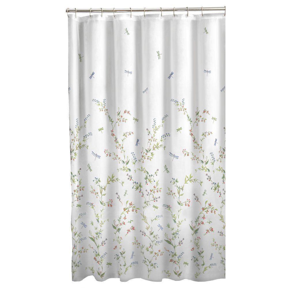 Amazon Com Maytex Dragonfly Garden Semi Sheer Fabric Shower