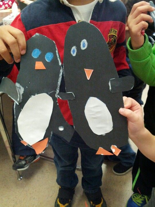 Kindergarten penguins....I can draw an oval.