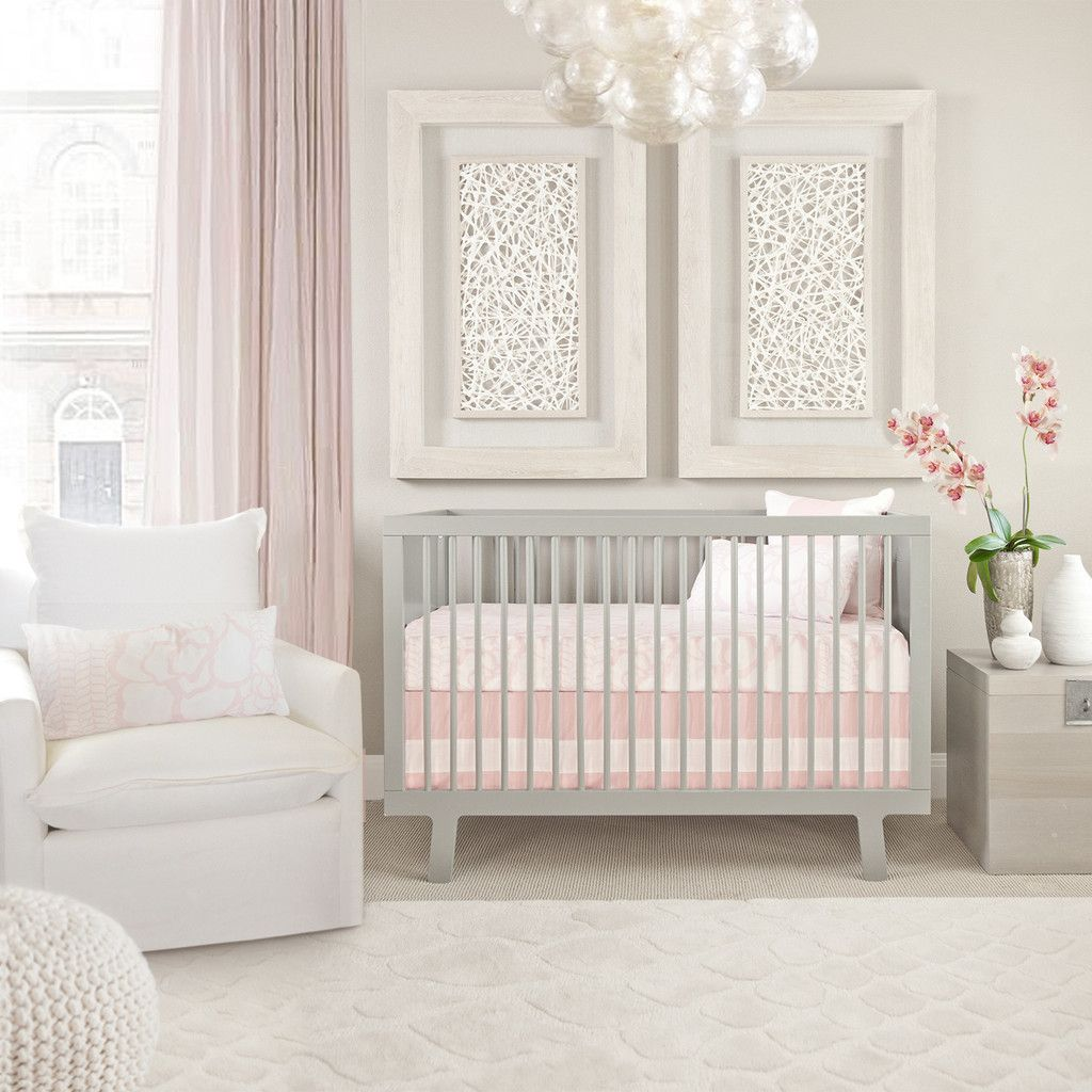 Pink And Gray Girls Baby Room: Girl Room, Modern Baby Bedding