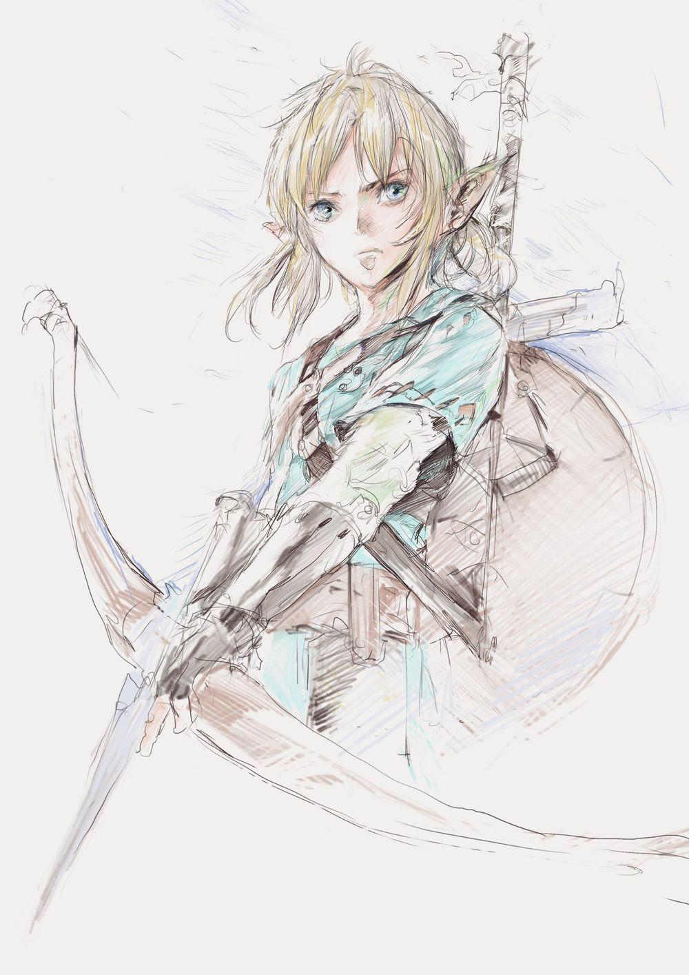 Video Dessin Link De The Legend Of Zelda Breath Of The Wild Par Yocky La Legende De Zelda Jeux Video Arts Dessin Anime