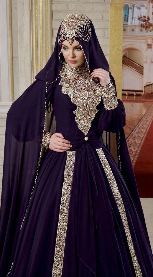 Tesettur Nisan Kina Elbisesi Aksamustu Giysileri Abaya Tarzi Musluman Elbisesi