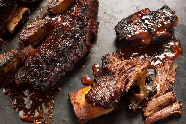Smoky sweet bbq beef short ribs recipe bbq beef short for Bbq boneless short ribs