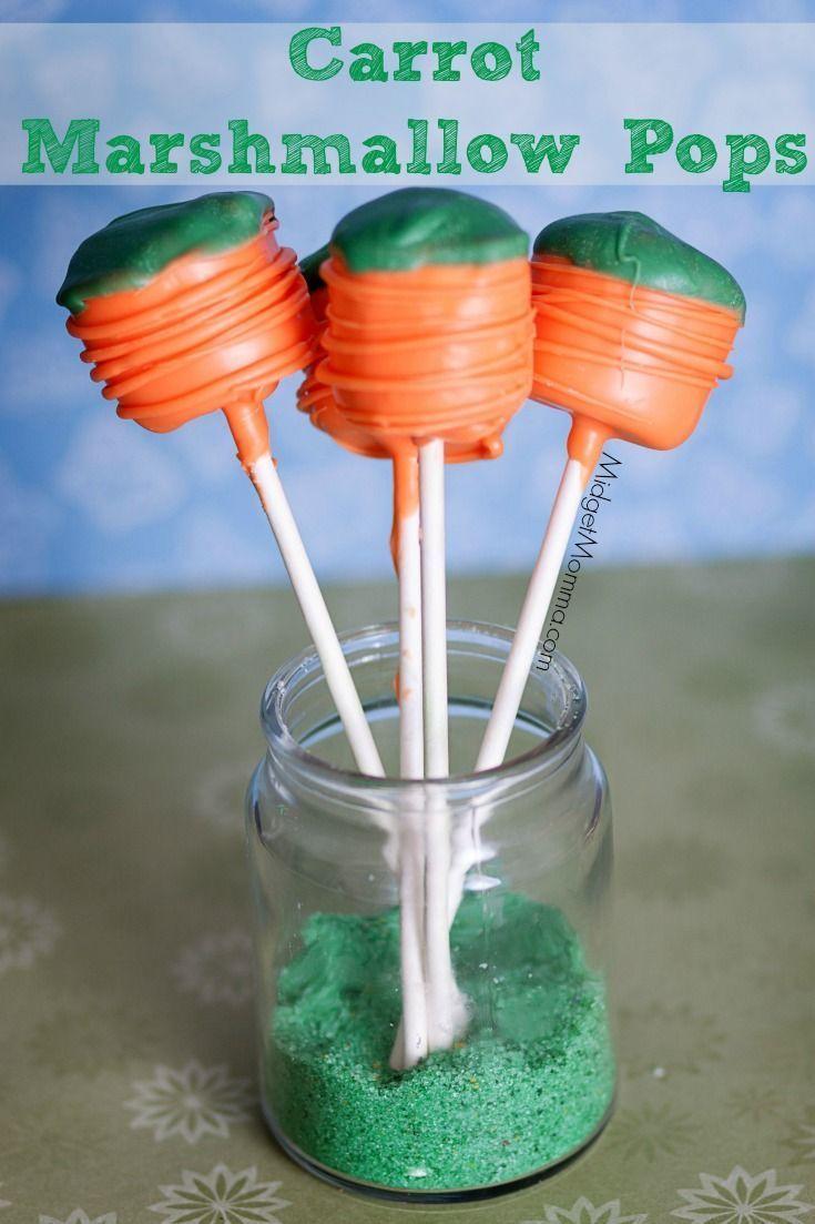 Carrot Marshmallow Pops