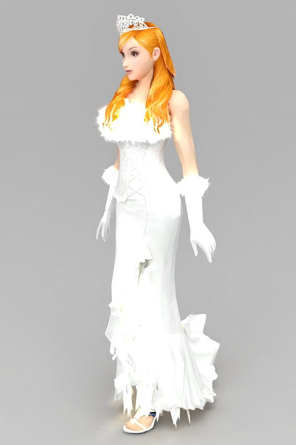 Blonde Bride 3d model 3ds Max files free download