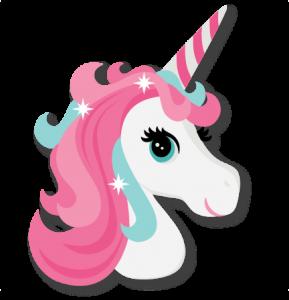 Unicorn adorable. Head cute svg cut
