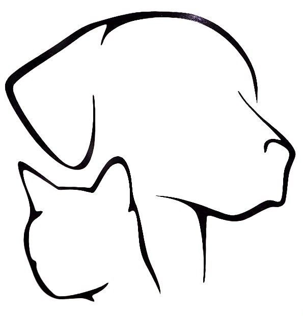 Photo of Dog Cat Lover Pet Silhouette Cool Car Truck Window Vinyl Decal Sticker 12 COLORES | eBay