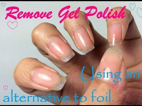 healthy nails how to remove soak off gel polish without causing damage youtube nail. Black Bedroom Furniture Sets. Home Design Ideas