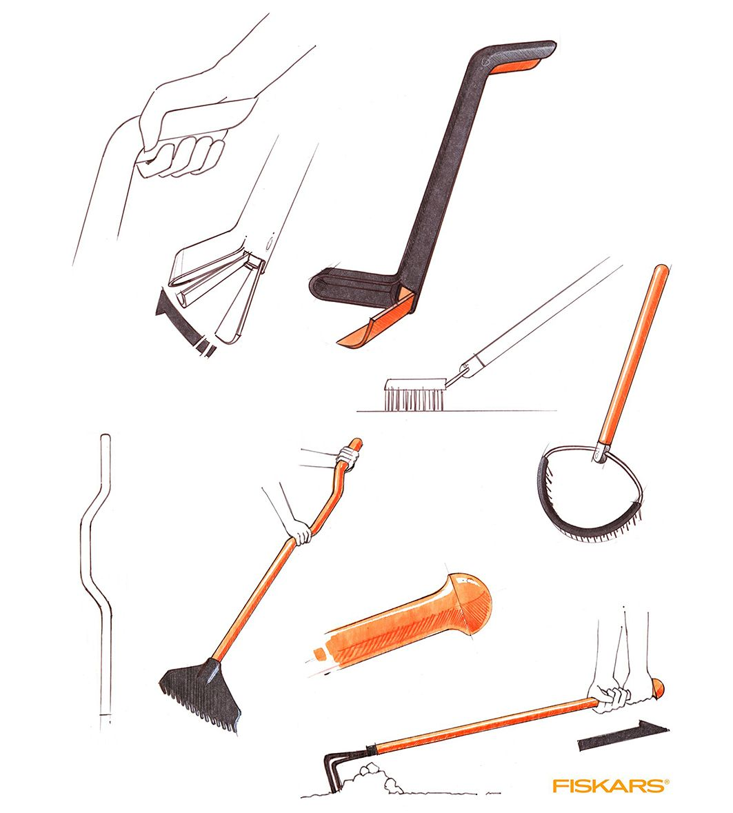 Ideation Sketches For Garden Tools. Check Out The Pooper Scooper In The  Upper Left Corner! James Owen Design + Fiskars #design #industrialdesign  #visual ...