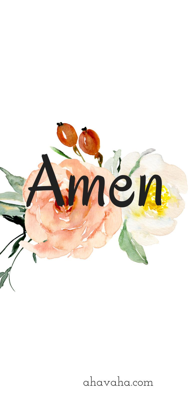 Amen Themed Floral Free Christian Wallpaper And Screensaver Mobile