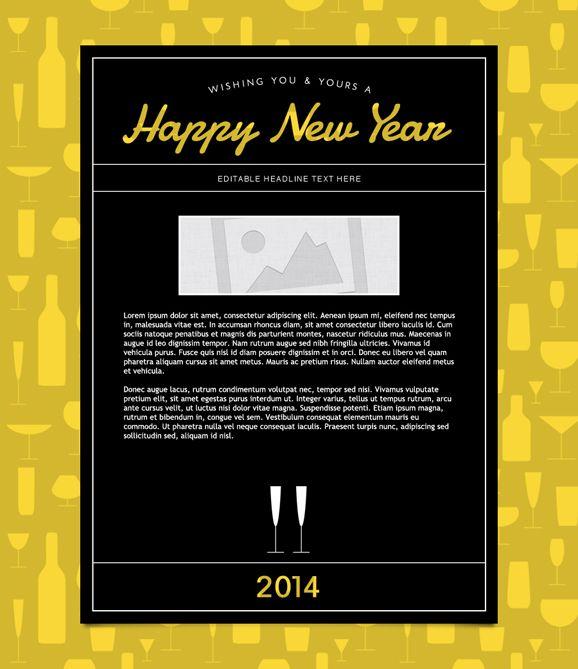 New Years Email Templates New Years Email Template Emma Inc Email Marketing Template Marketing Template Email Templates