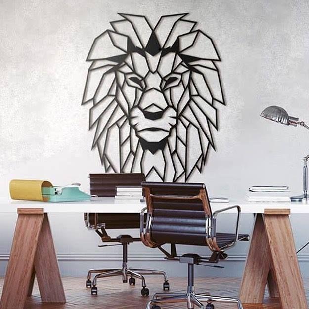 Décoration Murale Métal Design De Notre Tête De Lion Disponible